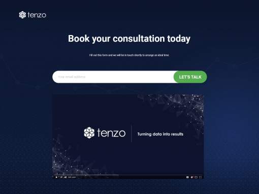 Tenzo – Demo page 2 redesign