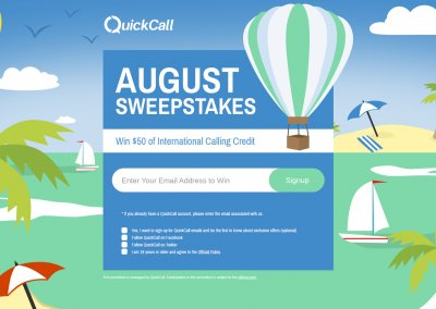 QuickCall – August Sweepstakes